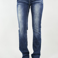 Copper & Brown Accented Easy Fit Jeans | Grace in LA