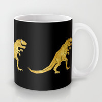 Golden T.Rex Pattern Mug by Chobopop