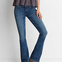 AEO Denim X4 Kick Boot Jean, Jeweled Blue