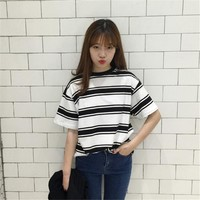 Black and White Striped T-shirts