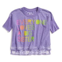 Toddler Girl's Chaser 'Everyone Loves aBig Sister' High/Low BurnoutTee,