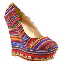 Sheeba Tribal Wedge*FINAL SALE!*