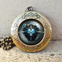 death knight wow class icons world of warcraft mmorpg vintage pendant locket necklace - ready for gifting