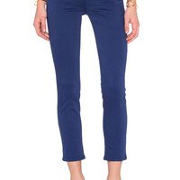 J Brand Mid Rise Crop Rail in Blue Print