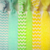 NEW! Spring Sparkly & Chevron Hair Ties from Haybands