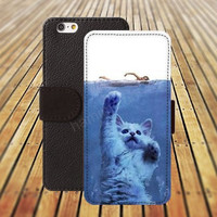 iphone 6 case swimming cat colorful iphone 4/4s iphone 5 5C 5S iPhone 6 Plus iphone 5C Wallet Case,iPhone 5 Case,Cover,Cases colorful pattern L549