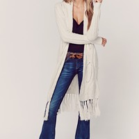 PAU CASHMERE CARDIGAN WITH FRINGE