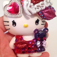 Kisses Hello Casting Kitty and Teddy Embellished Resin Pendant