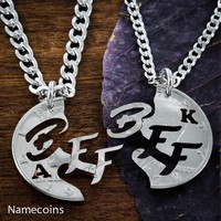 Best Friends Forever BFF Monogram Necklaces