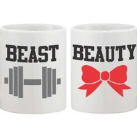 Beauty and Beast Matching Couple Mugs - 365 Printing Inc