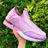 elainse29 LV Sneakers Lousi Vuitton Shoes Women Men Breathable Cloth & Leather Shoes Pink