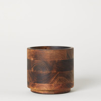 Wooden Plant Pot - Brown/mango wood - Home All | H&M US
