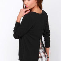 Back in Town Black Sweater Top
