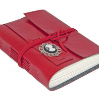 Faux Leather Wrap Journal with Cameo Bookmark - Choice of 6 colors