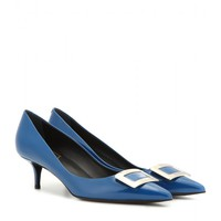 Décolleté Privilege New Buckle patent leather kitten-heel pumps