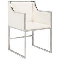 Worlds Away Anabelle Nickel Chair