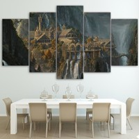 Lord of the Rings Rivendale Canvas