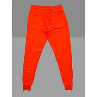 """Neon """"Orange"""" Cotton Poly Tapered Joggers"""