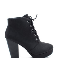 Huxley 01 Blocked Lace Up Boot