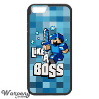 Minecraft Like A Boss Blue iPhone 4s iphone 5 iphone 5s iphone 6 case, Samsung s3 samsung s4 samsung s5 note 3 note 4 case, iPod 4 5 Case