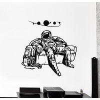 Vinyl Wall Decal Spaceman Astronaut Costume Planets Space Room Art Stickers Mural (g3074)