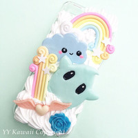 Custom small Luma inspired Kawaii Decoden Phone Case for Iphone 4/4s, 5/5s/5c, Samsung Galaxy S2, S3, S4 or Ipod Touch, HTC One X