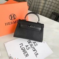 Hermes  Women Leather Shoulder Bag Satchel Tote Handbag