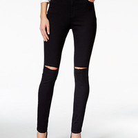 Nanette by Nanette Lepore Gramercy Ripped Black Wash Skinny Jeans, Only at Macy's - Jeans - Women - Macy's