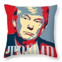 President Donald Trump Hope Poster 2 - Throw Pillow