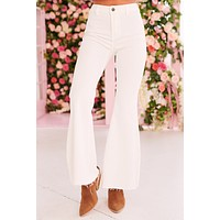 New Energy Flared Bell Bottom Jeans (White)