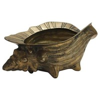 Pre-owned Brass Conch Planter