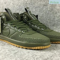 Official Nike Lunar Force 1 Duckboot High Jungle Green sneaker