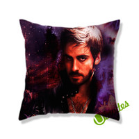 Once Upon a Time Captain Hook Square Pillow Cover