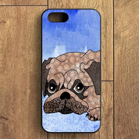 Painting Pug iPhone 5 Case