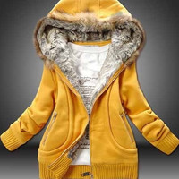 Winter Jacket Coat Women Cotton Casual Hooded Outwear (For choose 3 Color,4 Size) = 1920325508