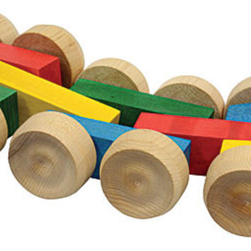 Rolling Rover Wooden Pull Toy