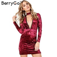 halter lace velvet dress