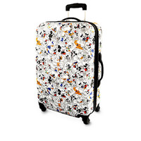 Disney Parks Mickey Mouse and Friends Comic Strip Luggage 26''' New