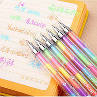 4pcs/lot diamond gel pen 6 colors 1 pen colorful pen Novelty Pen student pens