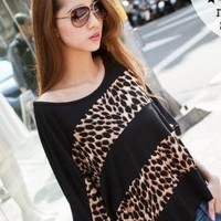 SEXY LEOPARD CASUAL BLOUSE