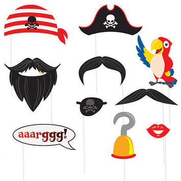 Pirate Photo Props (Package of 10)