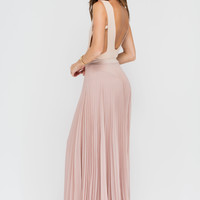Act Accordionly Pleated Maxi Skirt GoJane.com