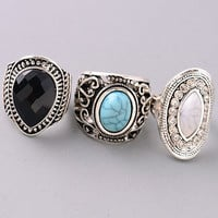 Chunky Boho Silver Ring - Multiple Styles Available