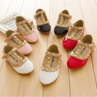 Gold Studded Girls Shoes - 4 Colors