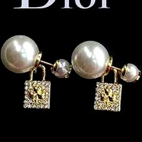 Dior new pearl women's wild earrings