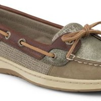 Sperry Top-Sider Angelfish Sparkle Suede 2-Eye Boat Shoe Olive/CognacSparkleSuede, Size 7M  Women's Shoes