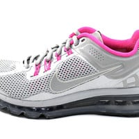 Nike Women's Air Max 2013 LE Silver/Pink Running Shoes 579585 066