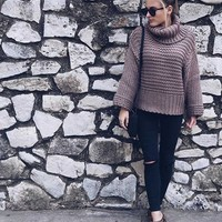 Chunky Knit Wool Sweater