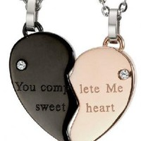 Heart Shape  Necklaces Gifts for Couples