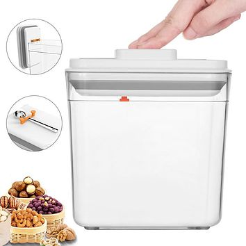Patented Square Plastic Airtight Cans Grain Storage Cans Snack Kitchen Storage Boxes Food Cans Milk Powder Cans